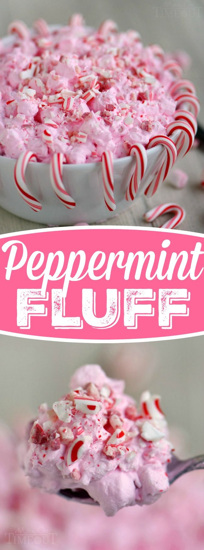 I've got the prettiest, two minute dessert you're going to make all holiday season long for you today! This Peppermint Fluff has just four ingredients and will disappear as quickly as you can make it. Double the recipe for a crowd! | MyRecipeMagic.com