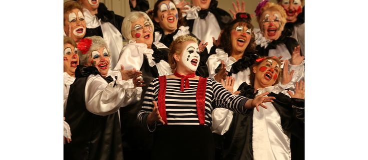The Red Rose City Chorus performing as clowns at their Regional Competition! Photo by Charles Stoeckle. Lititz, PA. www.sweetadelineintl.org #Acappella #Music #Singing #Chorus