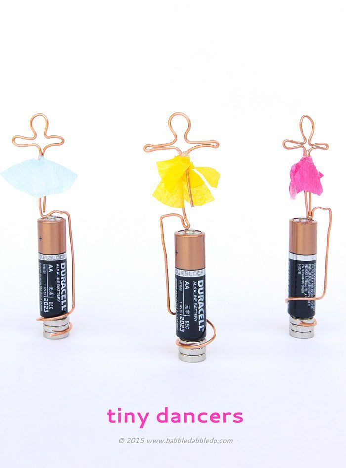 Learn how to make both a basic homopolar motor and a tiny dancing motor! Great hands-on science activity or science fair project for older kids! #STEM #electricity
