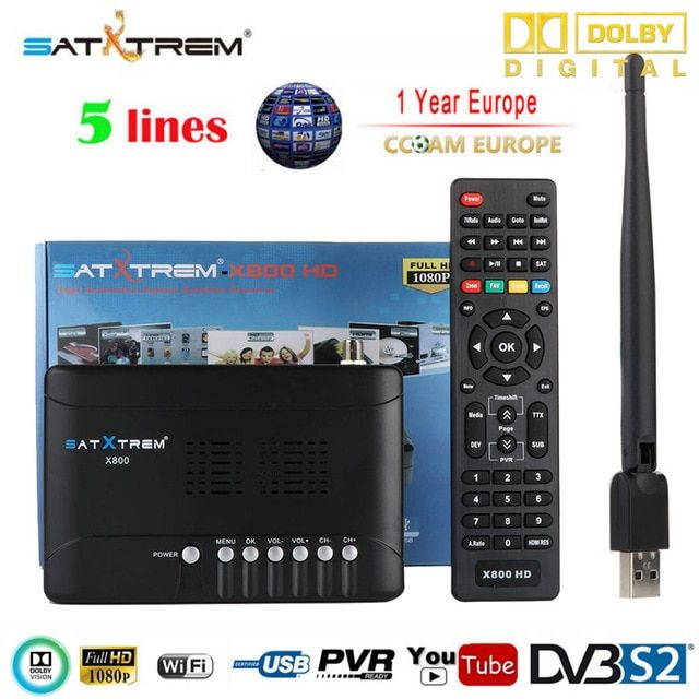 Genuine Satxtrem X800 Hd Satellite Receiver Full 1080p 1pc Usb