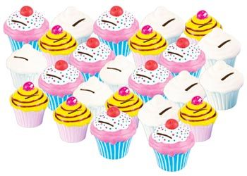 Cupcake Ceramic Money Banks. Cute cupcake shaped money banks. Decorate with our tile paint or porcelain markers