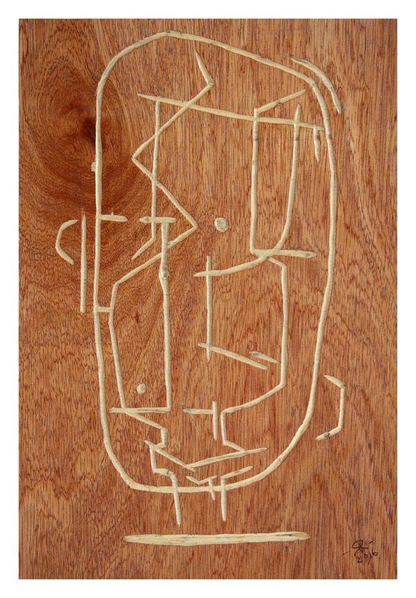 Renée Rossouw I Am a Man Carved Wood Panel 30.5 x 20.5 cm R3 200