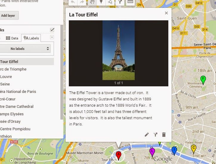 "How to create a google interactive map for your students to ""travel"" around countries and cities."