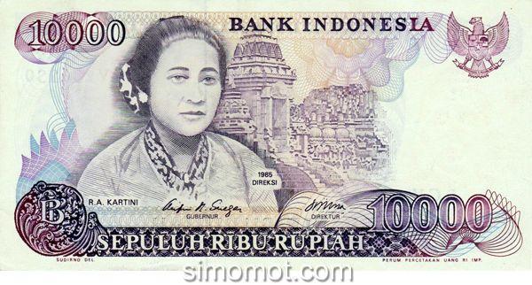 Uang kertas gambar Kartini tahun 1985