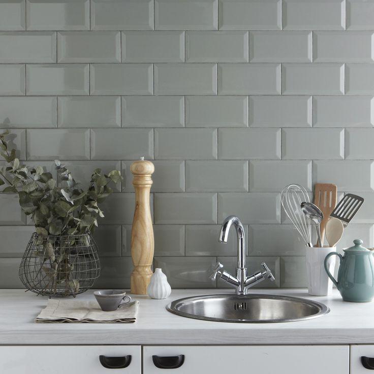 Great Metro Sage Wall Tile. Grey Kitchen ...