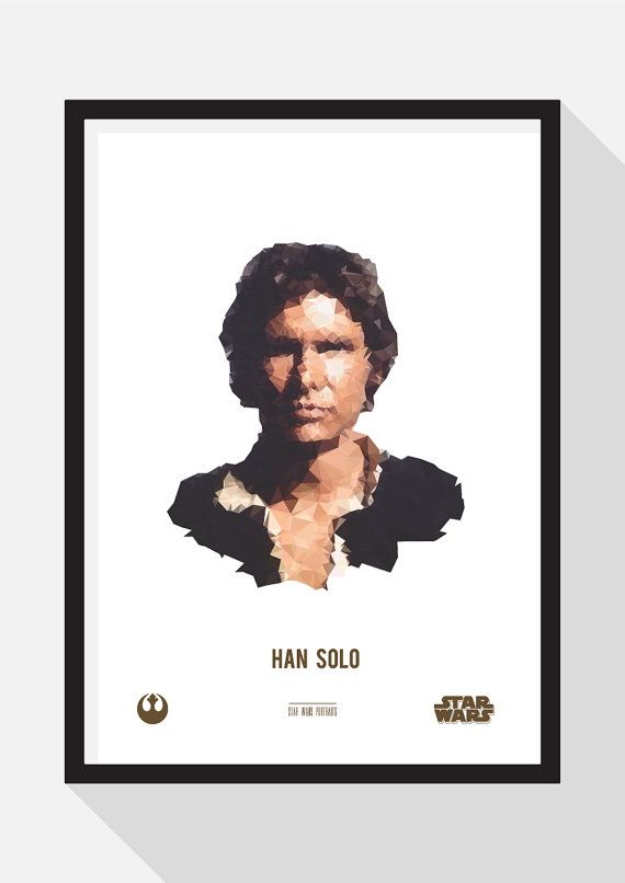 Han Solo Portrait by TheDesignCollection on Etsy