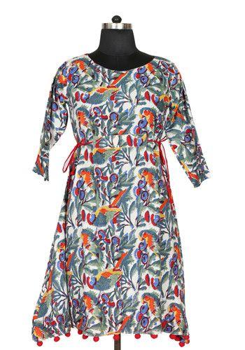 Block Printed Pom Pom Dress Design 1 – Desically Ethnic