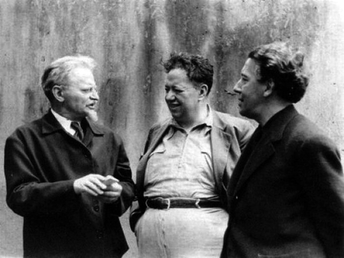 Leon Trotsky, Diego Rivera and Andre Breton [Manuel Álvarez Bravo (30´s)]