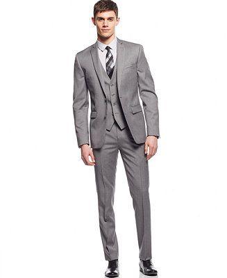 Bar III Light Grey Extra Slim-Fit Suit Separates - Suits & Suit Separates - Men - Macy's
