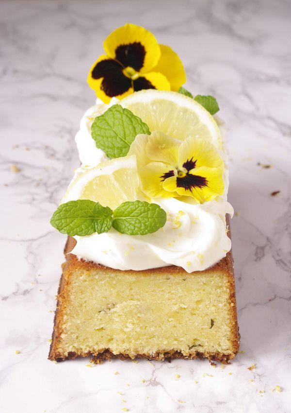 Lemon and mint pound cake - Cake au citron avec une petite touche de menthe | I Love Cakes