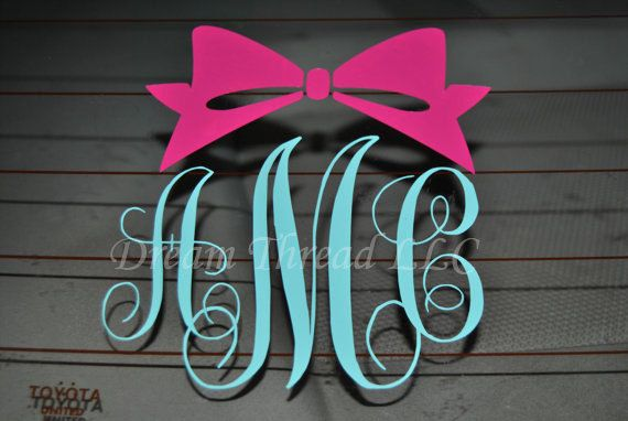 1000  ideas about monogram car decals on pinterest