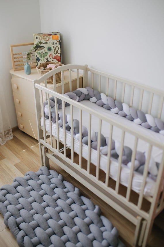 Baby Play Mat Floor Knot Cushion Nursery Floor Rug Grey Nursery Decor Pillows Baby Play Mat Kids Room Rug