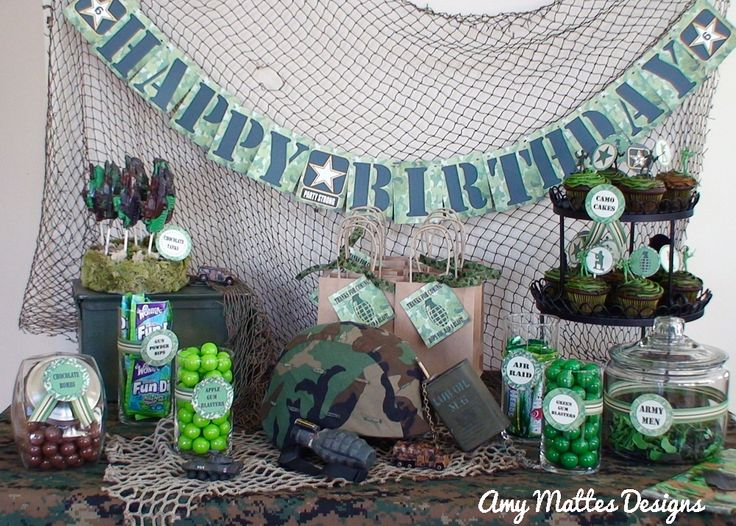 1000 images about battlefield 4 party on pinterest for Army party decoration ideas