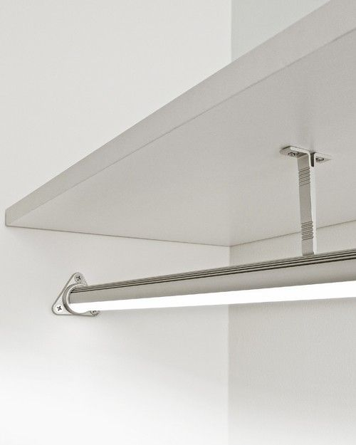 illuminated led closet rod works on a motion sensor so you dont have to best lighting for closets