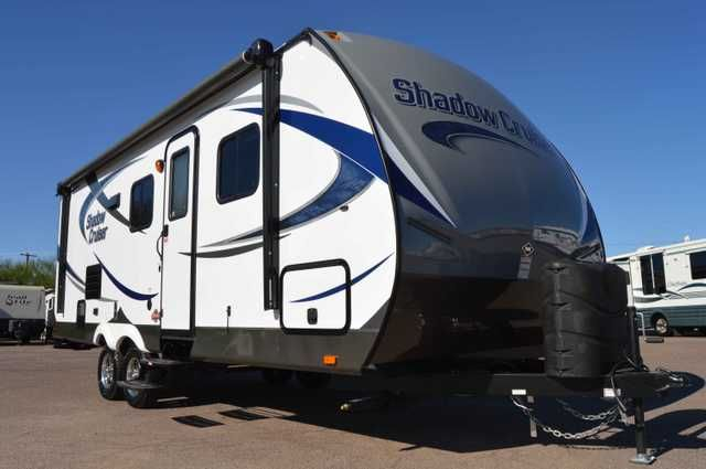2015 New Cruiser SHADOW CRUISER M-227DBS Travel Trailer in Arizona AZ.Recreational Vehicle, rv, 2015 CRUISER SHADOW CRUISER M-227DBS, 2015 Shadow Cruiser M-227DBS features a set of bunks for the kids, a single slide for added living space Inside you will notice the front queen lift up bed with wardrobes on either side, plus overhead cabinets for your things. There is a swivel TV cabinet just off the foot of the bed that makes it easy to view from multiple rooms. The slide out u-shaped…