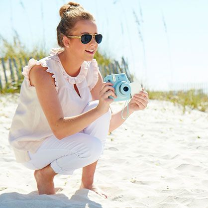 Clothing - Women's Linen Ruffle Top