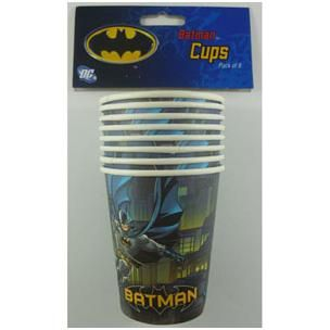 943 - Batman Cups. Pack of 8  For more details. please go to www.facebook.com/popitinaboxbusiness