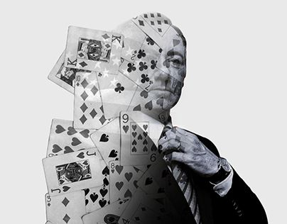Double exposure work - house of cards tv series