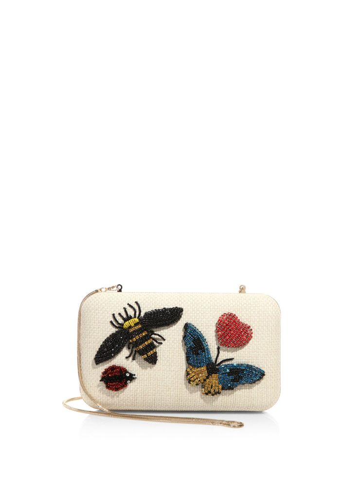 Alice + Olivia Shirley Insect Embellished Convertible Clutch