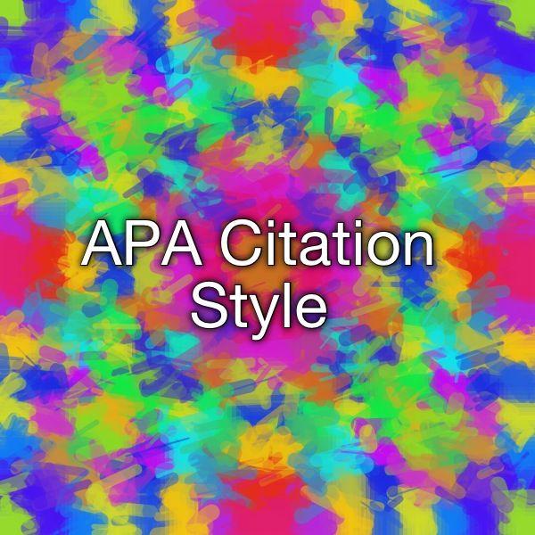 essay format apa example
