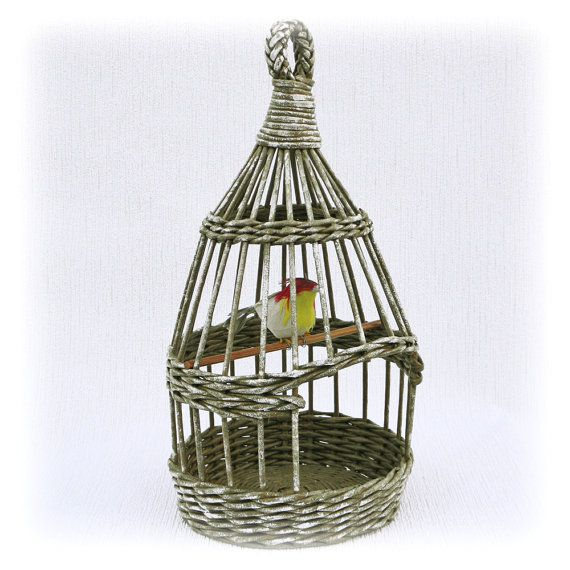 Wicker birdcage by WeavingAndVintage on Etsy