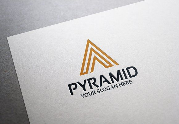Pyramid Logo by alfitranoor on @creativemarket
