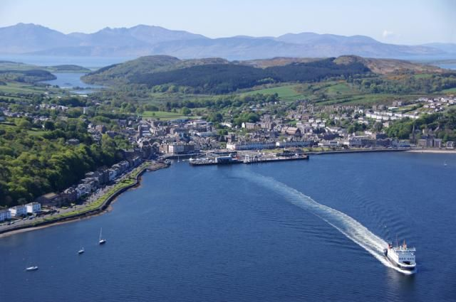 Rothesay Bay, Isle of Bute, Scotland from a microlite (Photo: Michael Gill)
