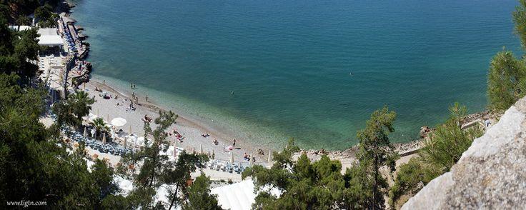 #Arvanitia beach, #Nafplio Shot from the walls of #Akronafplia Castle, #Peloponnese - #Greece