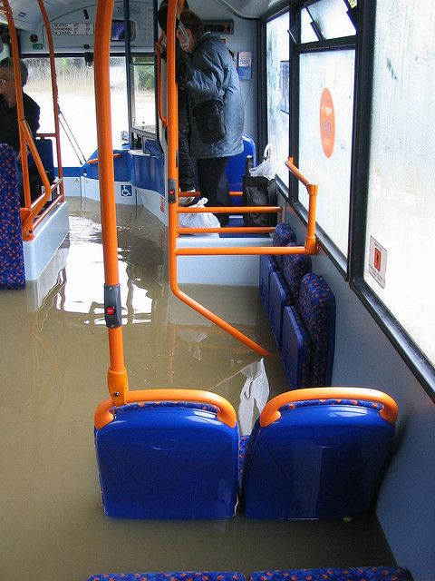 Even the buses weren't safe from the Rotherham Floods by ANNE E W, via Flickr
