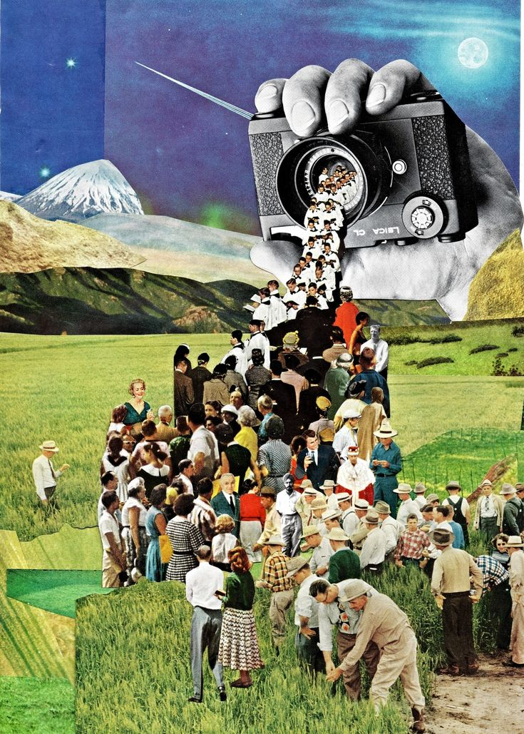 Retro-Futuristic Magazine Collage Art by Ben Giles More