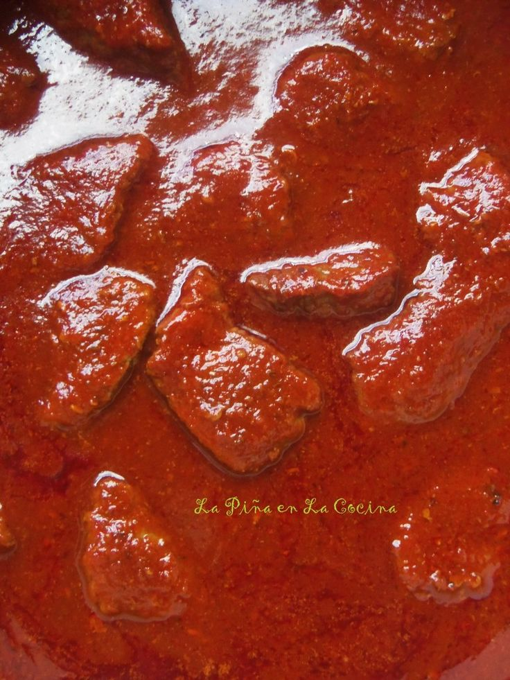 Carne Con Chile Rojo-Beef and Red Chile