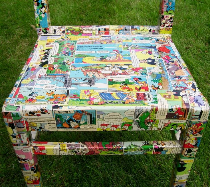 How To Decoupage A Wooden Chair | Polykromos: Upcylcled Chair, Decoupage Project