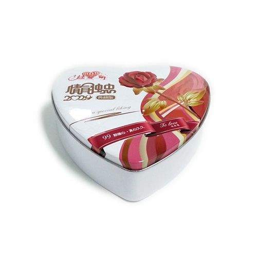 This heart shaped tin box can be printed your desired design and embossed your own logo to upscale your image of your products and enhance your brand.