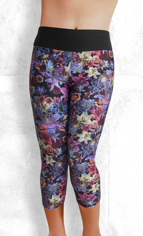 Capri Leggings - Vintage Floral - Funtastic Activewear