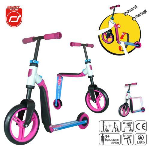 Rowerek dwa w jednym. Hulajnoga i rower dla szkraba.  amazing bike, scooter, fun, zabawa na świeżym powietrzu, wiosna!