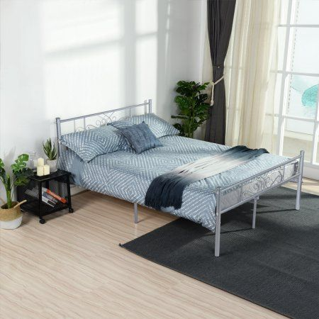 Cheerwing Easy Set Up Premium Metal Bed Frame Platform Box Spring