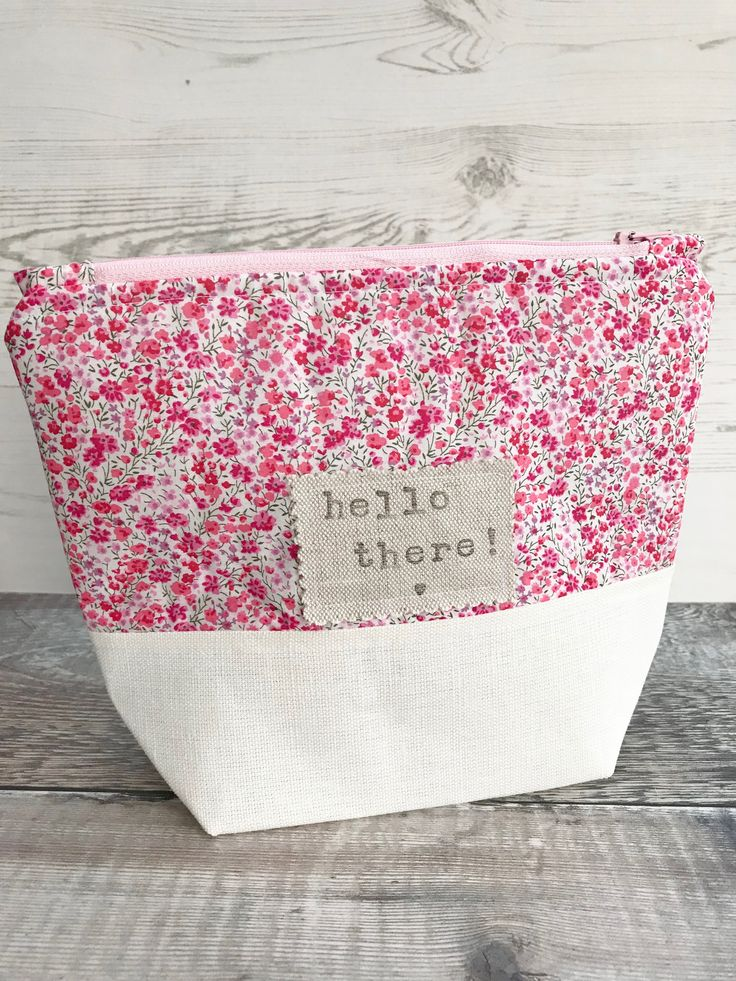This beautiful Liberty Phoebe bag has just been added to my #etsy shop!  Can be used as a #make up bag or #project bag.