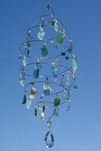YUP...I'm gonna pin it! sea glass chandelier