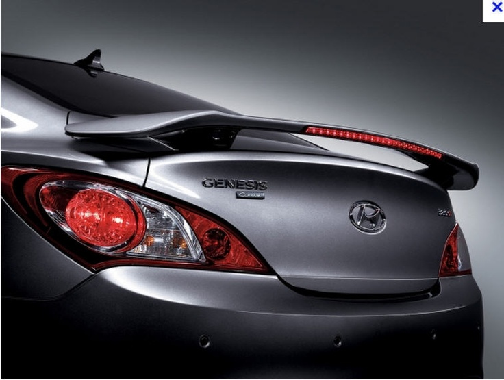 Rear Wing Led Spoiler Painted For Hyundai Genesis Coupe