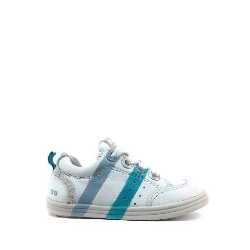 Kinderschoen online Bunnies sneaker Sneaker met blauw, grijze strepen