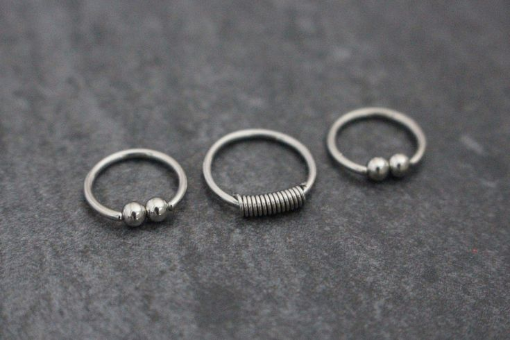 Captive Bead Hoop, Eyebrow Ring, Lip Ring, Rook Earring, Conch Earring, Septum R...