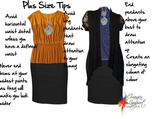 Imogen Lamport of Inside Out Style shares some valuable Tips for the Plus Size.  I am a plus size so this really speaks to me.
