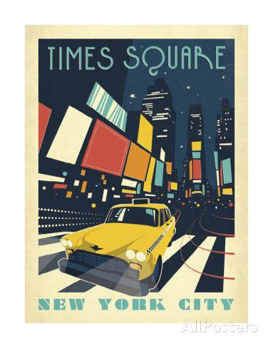 Times Square: New York City Kunst van Anderson Design Group bij AllPosters.nl