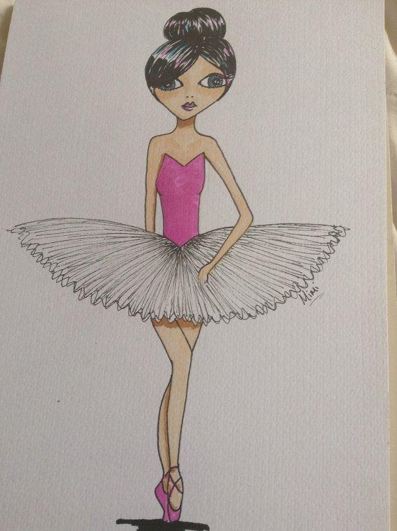 Ballerina illustration by RubyLarkspurArt on Etsy