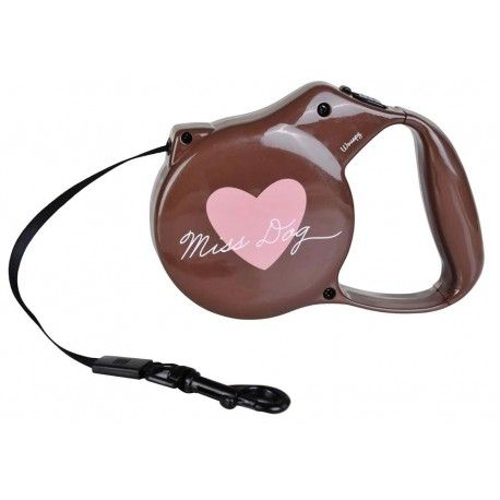Wouapy 'Heart' Flexline - Fleksibel line med hjertemotiv til små og mellemstore hunde ....