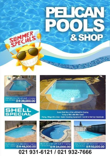 Pelican Pools Fibreglass Swimming Pool Specials