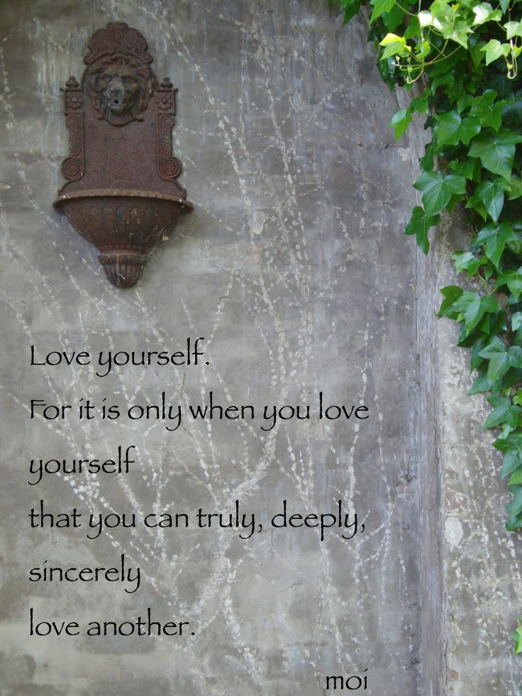 I love myself more everyday. Do you?  If not, why?