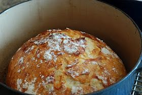 Ridiculously simple and AMAZING bread recipe.  Le Creuset bread - (or any cast iron pot with lid) - You have to try it.
