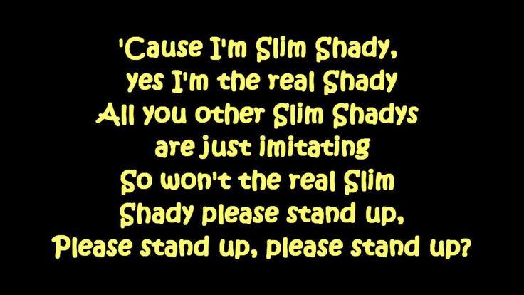 Eminem - The Real Slim Shady (Lyrics) [HD & HQ]