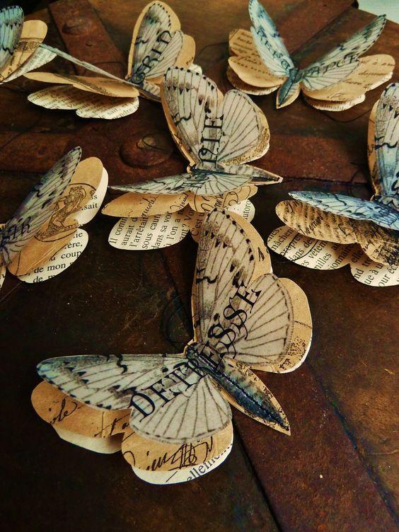 Guignol et blanche papillons en papier l 39 atelier de - Pinterest basteln mit papier ...